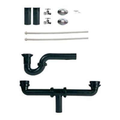 Plumb Pak Plumb Pak BP-B1PTLCB Double Bowl Sink Installation Master Kit
