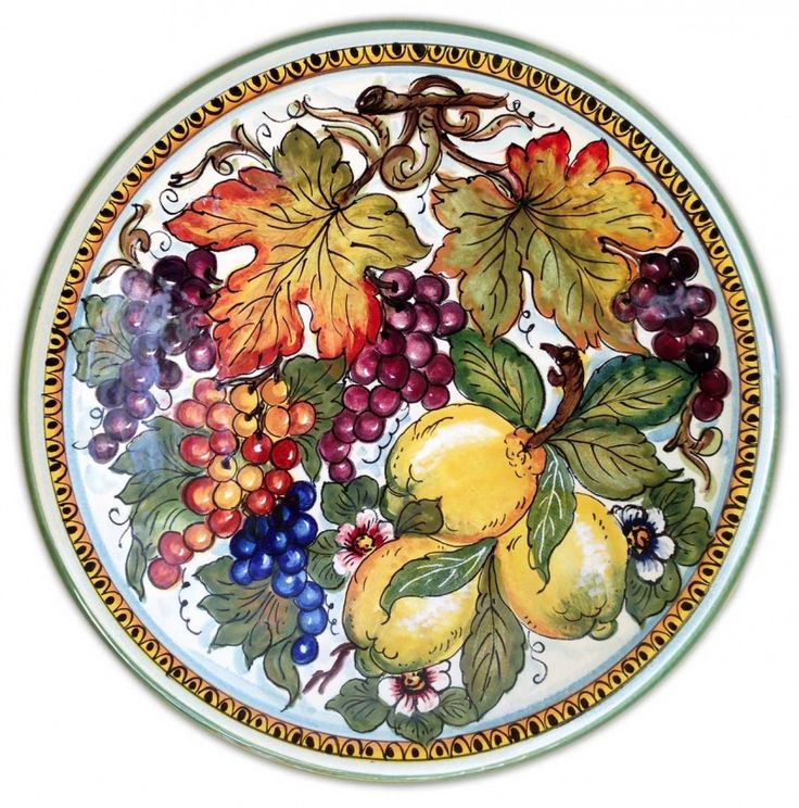 Valentina Ceramiche - Fruta Plate This artist's work is now available in the United States, only through Lara Exclusively Italian! A truly unique piece of work!
