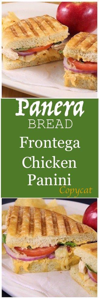 Frontega Chicken Panini Sandwich Recipe {Panera Bread Copycat}
