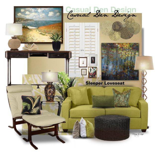 Casual den guest room design by esch103 liked on - Den guest room design ideas ...
