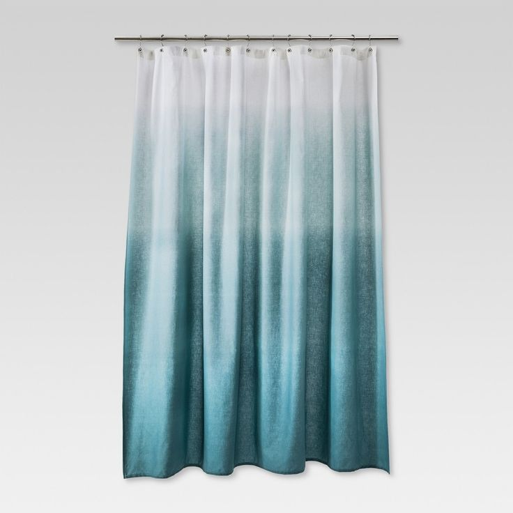 Ombre Shower Curtain Seafoam Green Threshold Ombre Shower