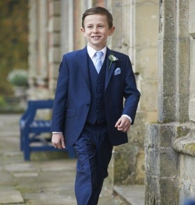 Our boys royal blue mohair lounge suit, Westbury. #peterposh #wedding #groom #weddingsuits #bluesuit #bowtie #groomsmen