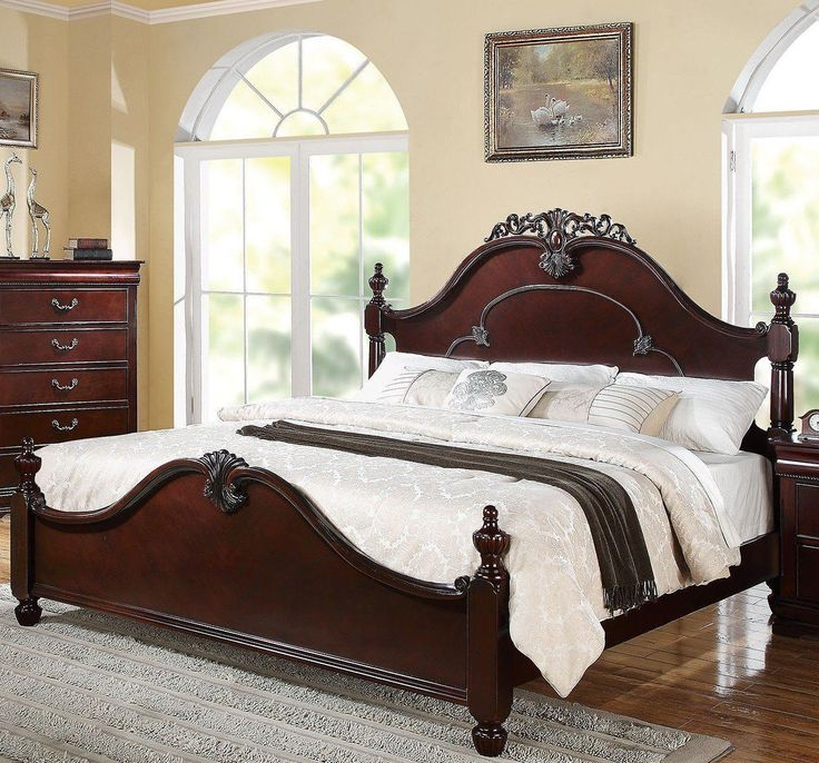 Grand Gwyneth Master Bedroom Set King Bed + Free Shipping