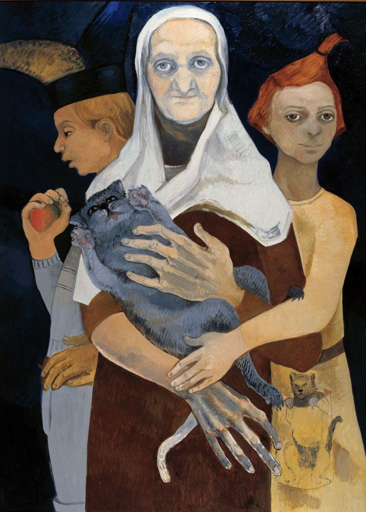 Neş'e Erdok, Anneanne, 160x116 cm, 2007, Tuval üzerine yağlıboya