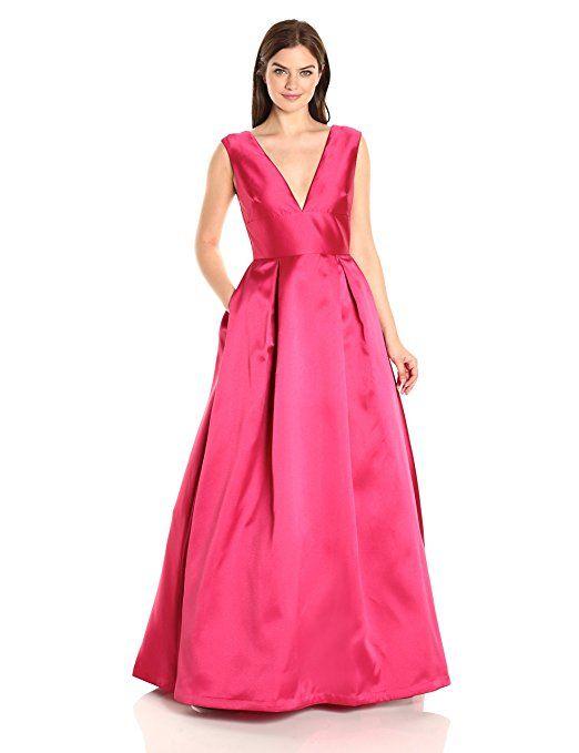 f2136d22b39 Amazon.com  ML Monique Lhuillier Women s V-Neck Taffeta Gown  Dresses  Online – quality dresses