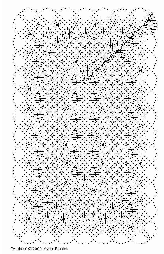torchon bookmark free pattern | Bobbin Lace Free Patterns « Browse Patterns