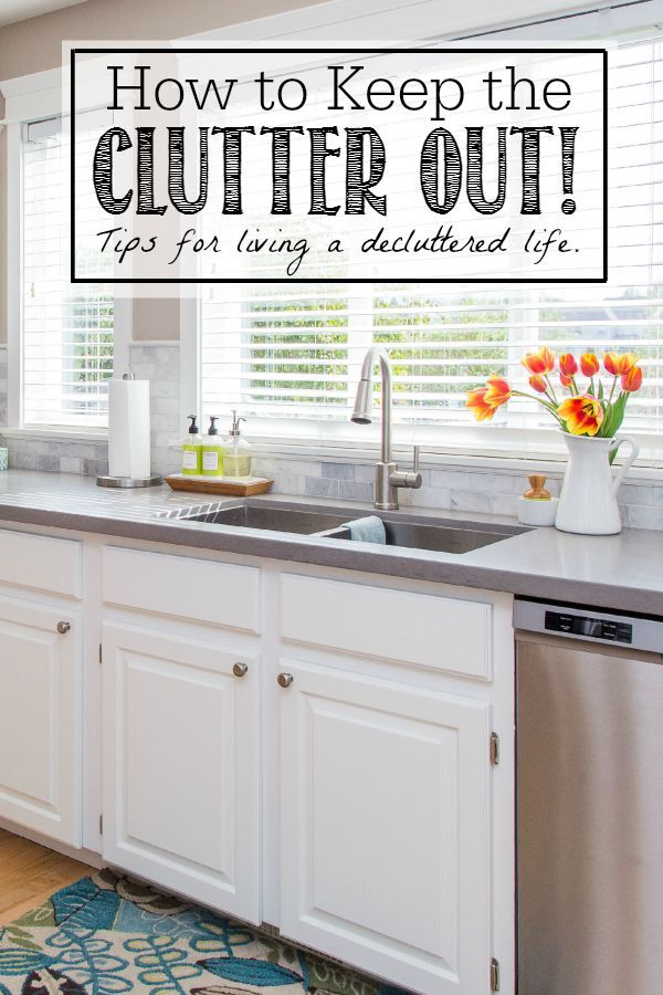 With kids, husbands, junk mail, etc it can be really hard to keep clutter out. We're excited to try some of these tips for a clean, clutter-free home!