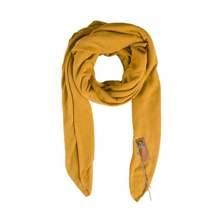 Zusss Stoere grote sjaal oker - Sweet Living Shop
