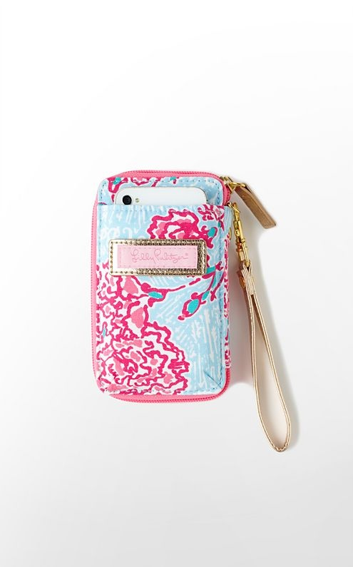 Lilly Pulitzer Wristlet that fits Iphone