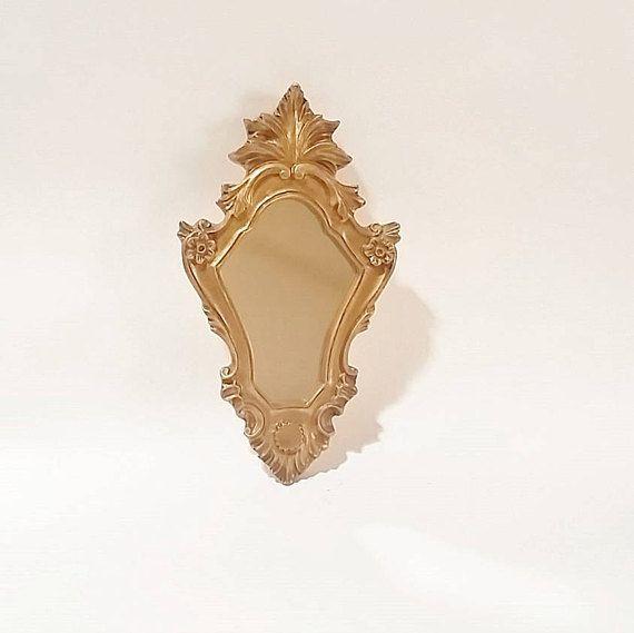 Gold Wall Mirror Hollywood Regency Wall Mirror Wall Mirrors