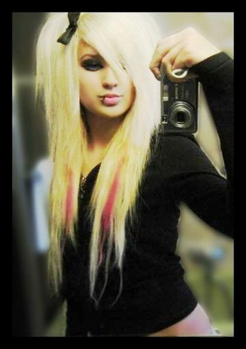 Blonde with pink...cute!!