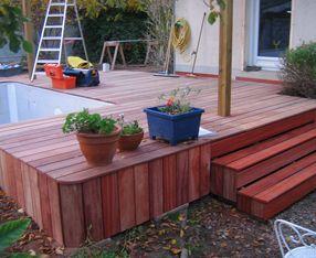 Artisan escalier bois ext rieur angers jardin pinterest for Jardin 8686