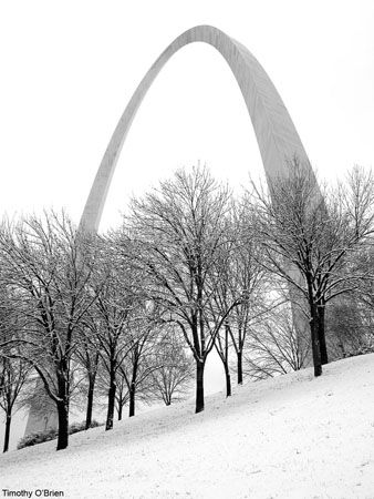 Love this Black and White of The Arch. Almost like an Ansel Adams.