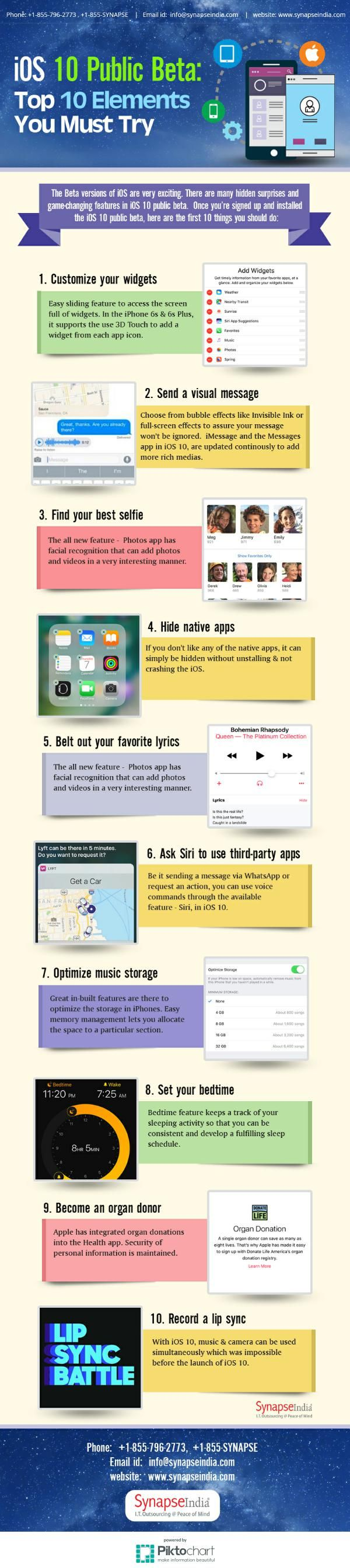 The Beta versions of iOS are very exciting. There are many hidden surprises and game-changing features in iOS 10 public beta.  Once you're signed up and installed the iOS 10 public beta, here are the first 10 things you should do:
