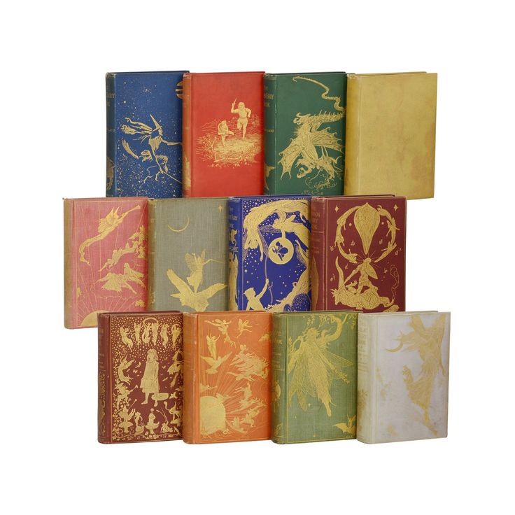 First edition set of fairy books andrew lang red blue