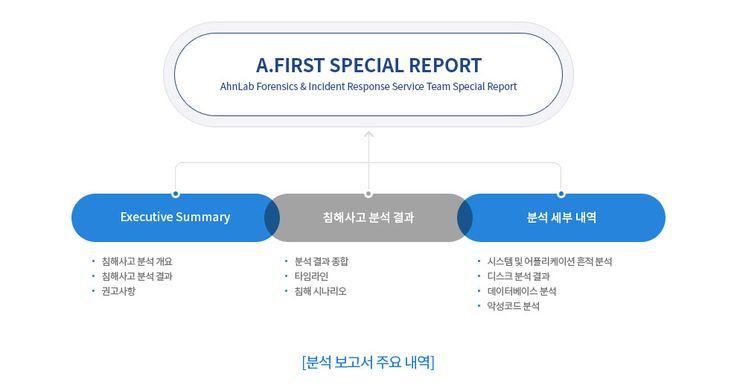분석 보고서 주요 내역 구조도