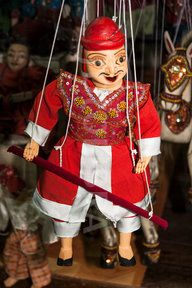Puppet for sale, Bogyoke Aung San Market, also known as H G Scott Market, Yangon, (Rangoon), Myanmar (Puppet for sale, Bogyoke Aung San Market, also known as H G Scott Market, Yangon, (Rangoon),...)