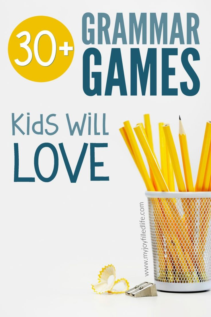 Over 30 grammar games that will make grammar more fun and memorable for kids. Great for homeschoolers and teachers!