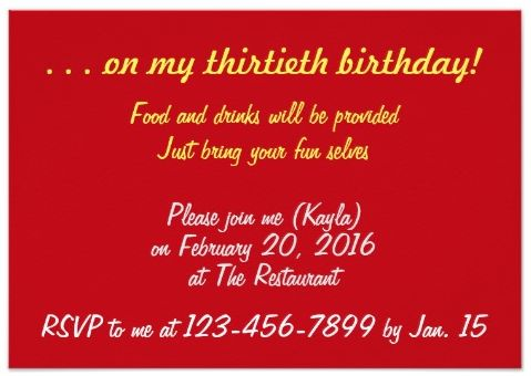 Surprise Dance Party (occasioned by birthday) Invite (back)