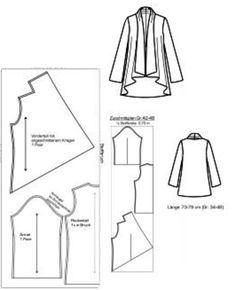 waterfall jacket pattern making - Google Search