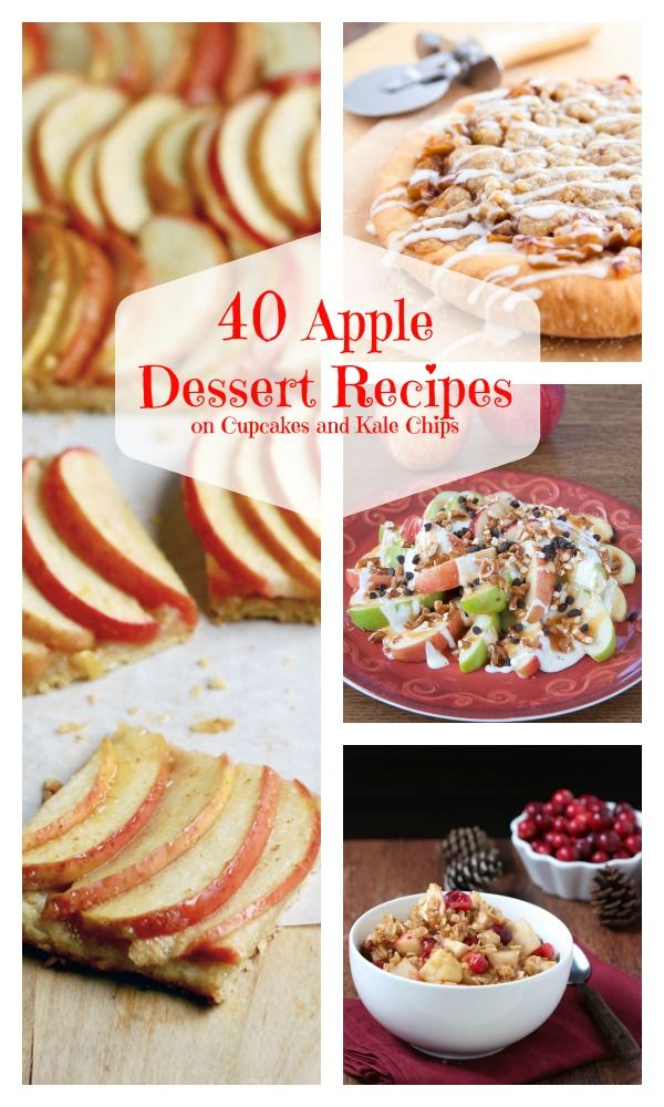 40 Apple Dessert Recipes - the best desserts for fall! Cookies, cakes, cupcakes, pie and more! | cupcakesandkalechips.com