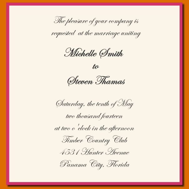 Wedding Invitation Wording Template Luxury 12 Sample Wording For W Wedding Invitation Wording Templates Wedding Invitation Text Message Wedding Invitation Text