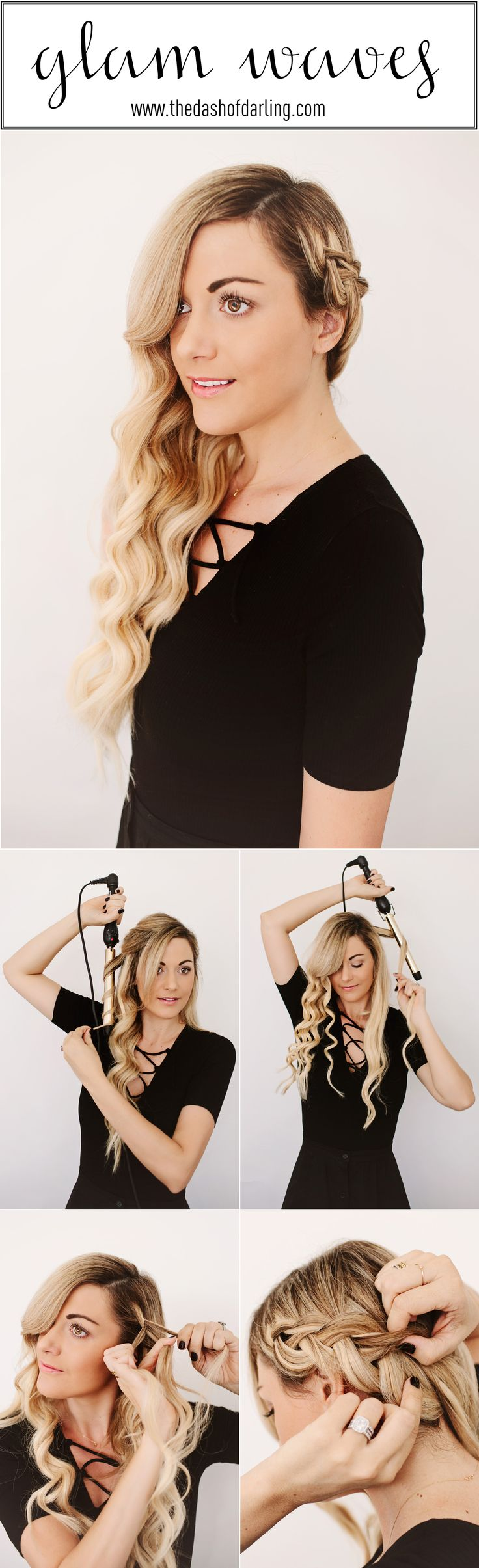 Glam waves with a braid hair tutorial by Dash of Darling http://bjuice14.blogspot.com.es/ https://twitter.com/BlueJuice14