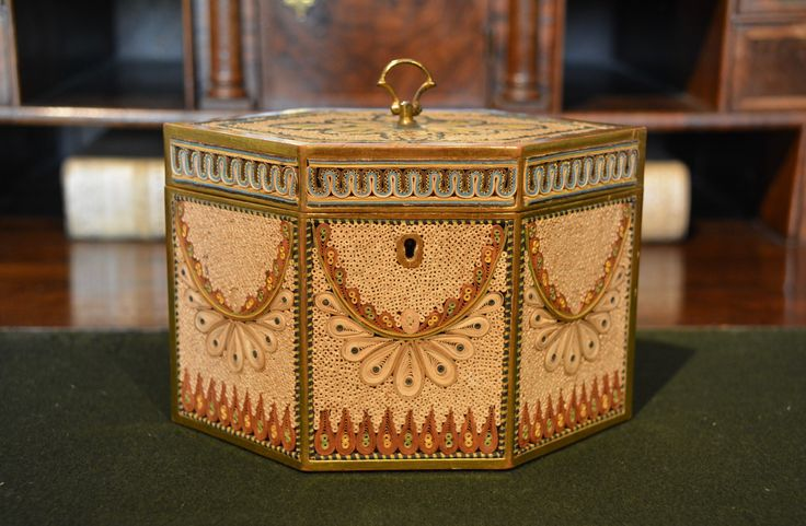 Late 18th Century Rolled Paper Tea Caddy c.1790, England