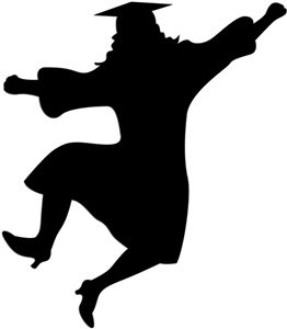 Graduation Silhouettes can be used on food or decorations