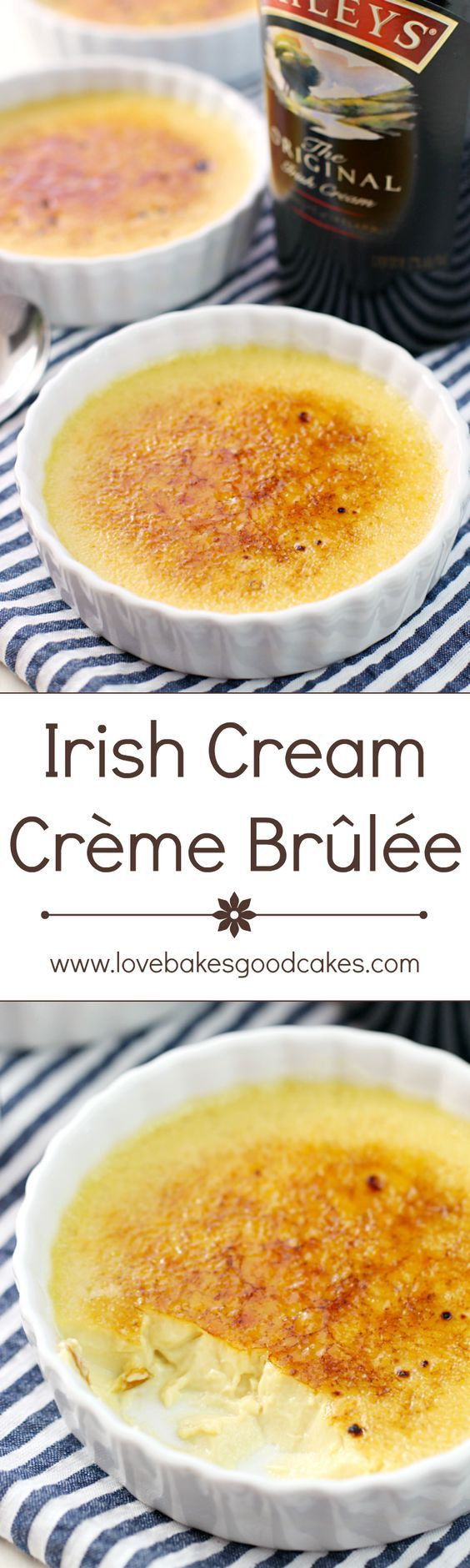 Crème Brûlée gets an update with the addition of Irish Cream! This Irish Cream Crème Brûlée is a stunning but simple dessert, and it's the perfect way to end your meal!