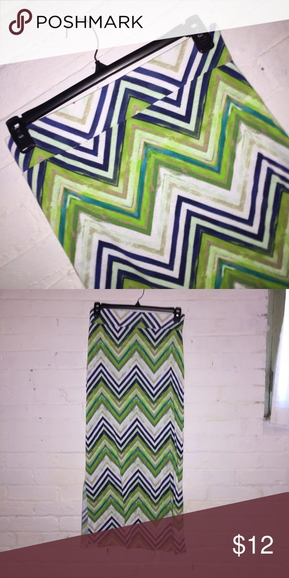 A.n.a. (JCP) CHEVRON MAXI SKIRT EUC. Puppy-loving smoke-free home. Sorry-no trades. All offers will be considered but please be respectful of the brand and the condition :) 20% discount if you bundle two or more items!  🛍 Happy Shopping! 🛍 a.n.a Skirts Maxi