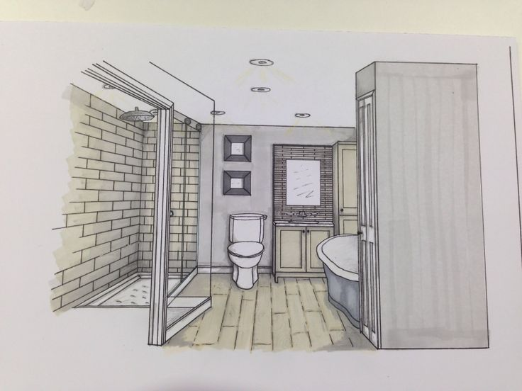 11 best images about my sketches on pinterest for Bathroom designs drawing