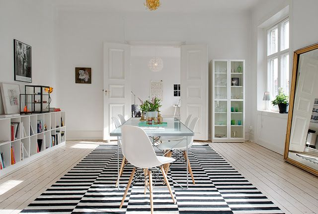 Anya Adores. I love this simple, modern B dining room! Also, I'm crazy about these mid-century modern chairs