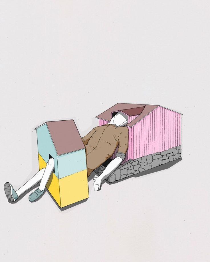 Arte y Arquitectura: Ilustraciones de Diego Fagundes