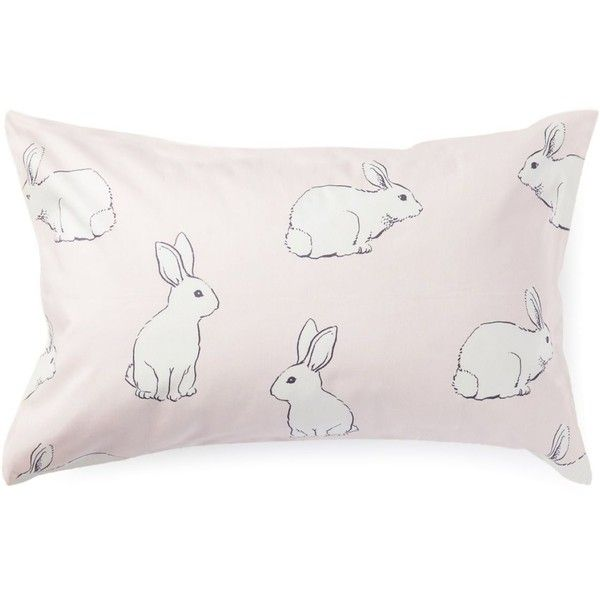 Pastel Pink Clover Standard Pillow Case David Jones ($25) ❤ liked on Polyvore featuring home, bed & bath, bedding, bed sheets, soft pink bedding, pale pink bedding, light pink bedding and david jones