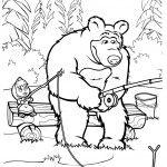 Tantissimi bei disegni da colorare con cui i vostri bambini si divertiranno tantissimo con Masha e Orso