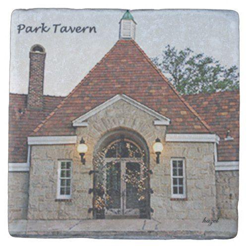 Park Tavern, Midtown, Atlanta Landmark Marble Ston Stone Coaster