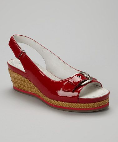Loving this Red Marie Leather Slingback on #zulily! #zulilyfinds