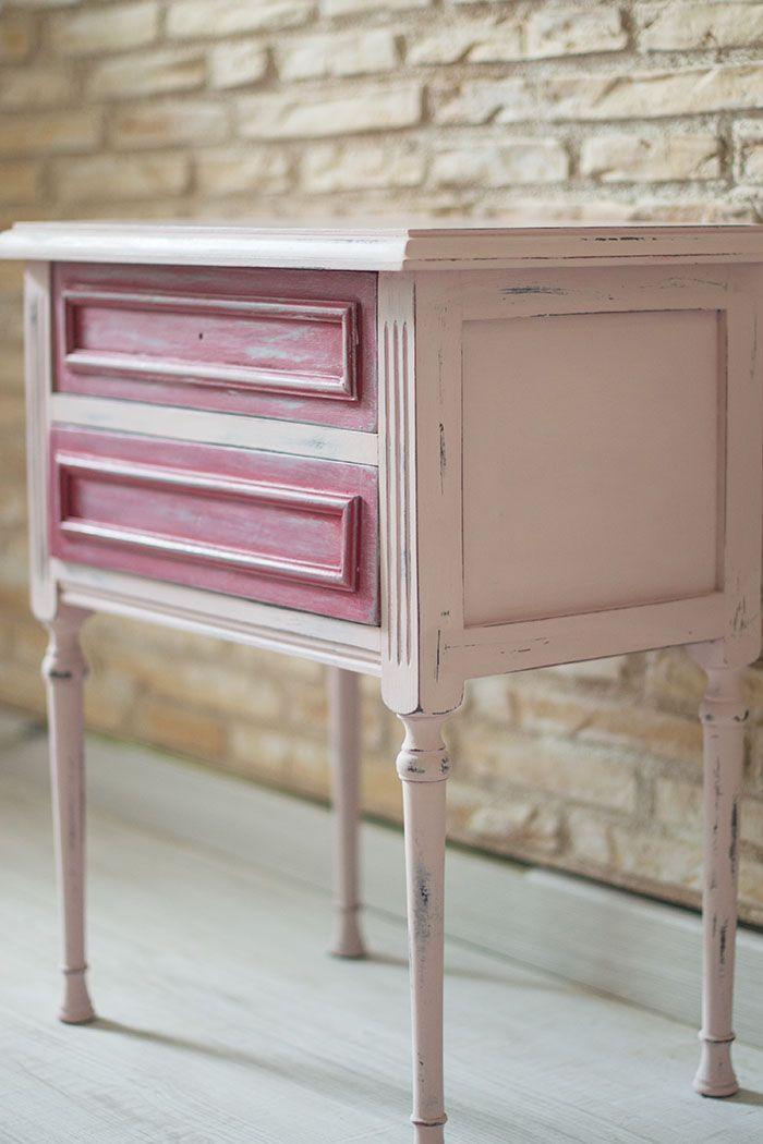 Pintar con chalk paint para reciclar una c moda vintage - Pintar chalk paint ...