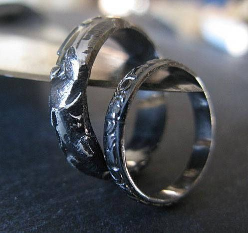 Hey, I found this really awesome Etsy listing at https://www.etsy.com/listing/573954811/black-rhodium-wedding-band-set-size-7-14