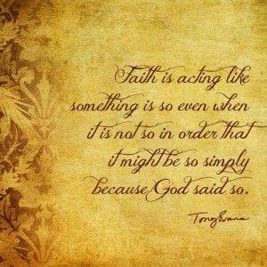 tony evans faith quote - Google Search