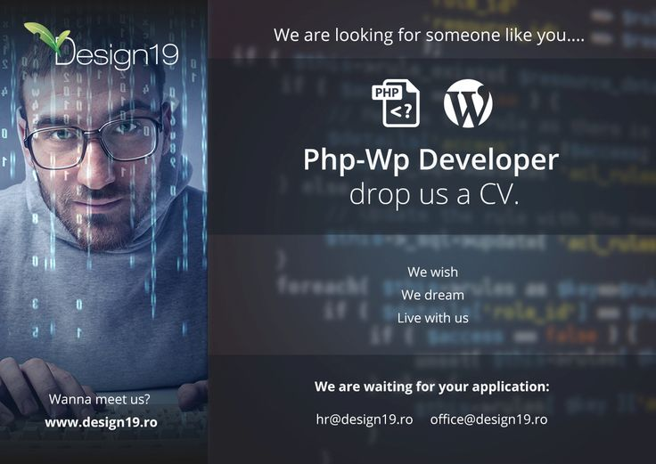 We're looking for a #PHP #WordPress #Developer in #Cluj