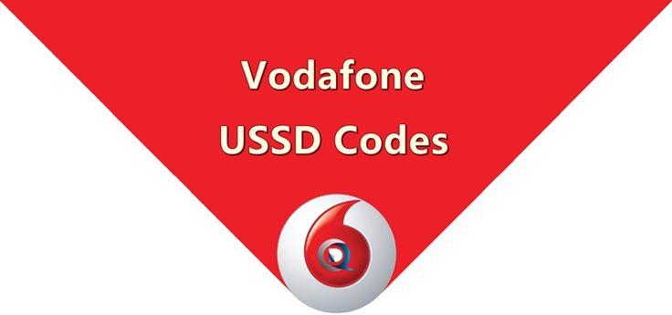 Vodafone USSD Codes List to Check Balance, 3G/2G Internet Data