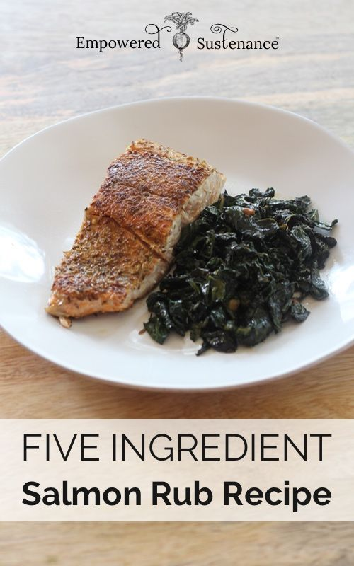 No more boring salmon, this one's a winner. Five Ingredient Salmon Rub (paleo, sugar free)