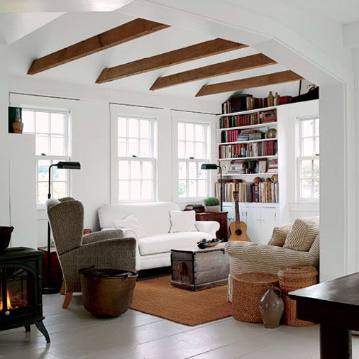 Neutral And Warm Living Room Massive Support Beams Make For An Open  First Floor Plan Part 36