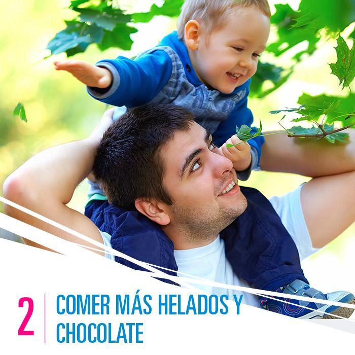 Comer más helados y chocolate