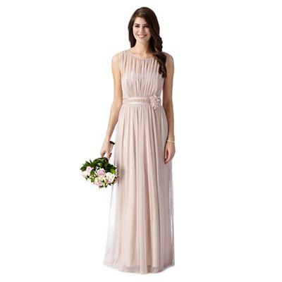 Debut Pale pink mesh corsage maxi dress- at Debenhams.com