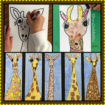 Come On A Safari With Us! Directions for this EASY giraffe art project on our blog: kthru2inmalibu.blogspot.com