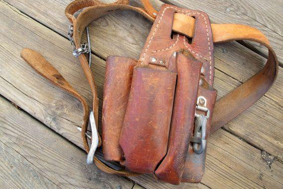 Wornin Klein tool belt / Vintage 43 inch by SandrasCornerStore, $47.50