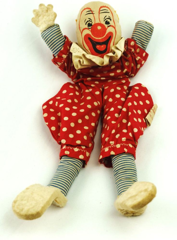 Vintage Bozo The Clown 1940s Doll Dolls Of Hollwood Inc Capitol Records